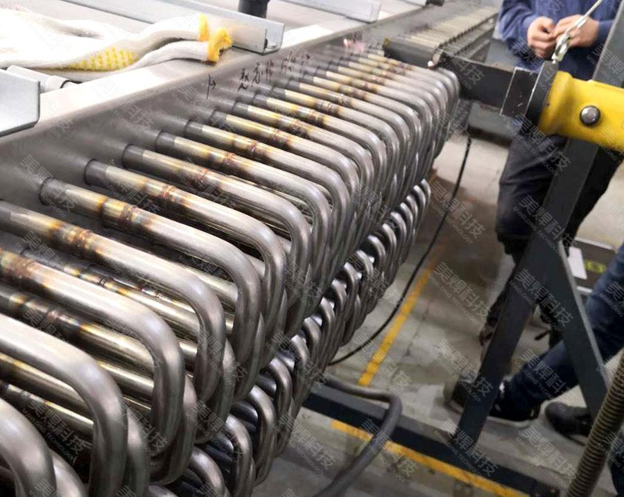 MWH series U-tube welding equipment of heat exchanger is applied in heat exchanger industry project