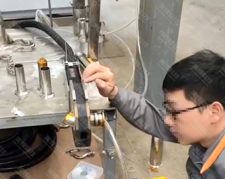 MWF series closed pipe welding equipment is applied in food industry equipment project